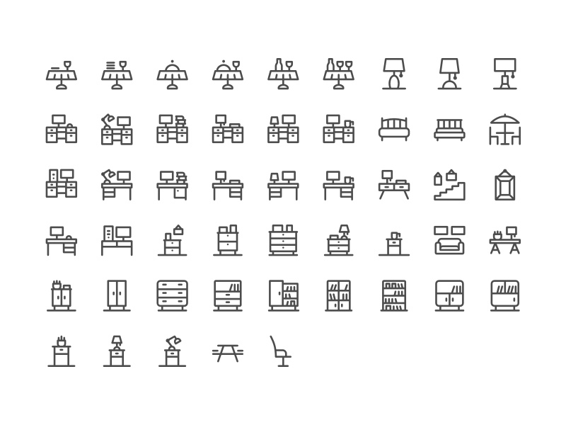 The full Furniture Icon Set
