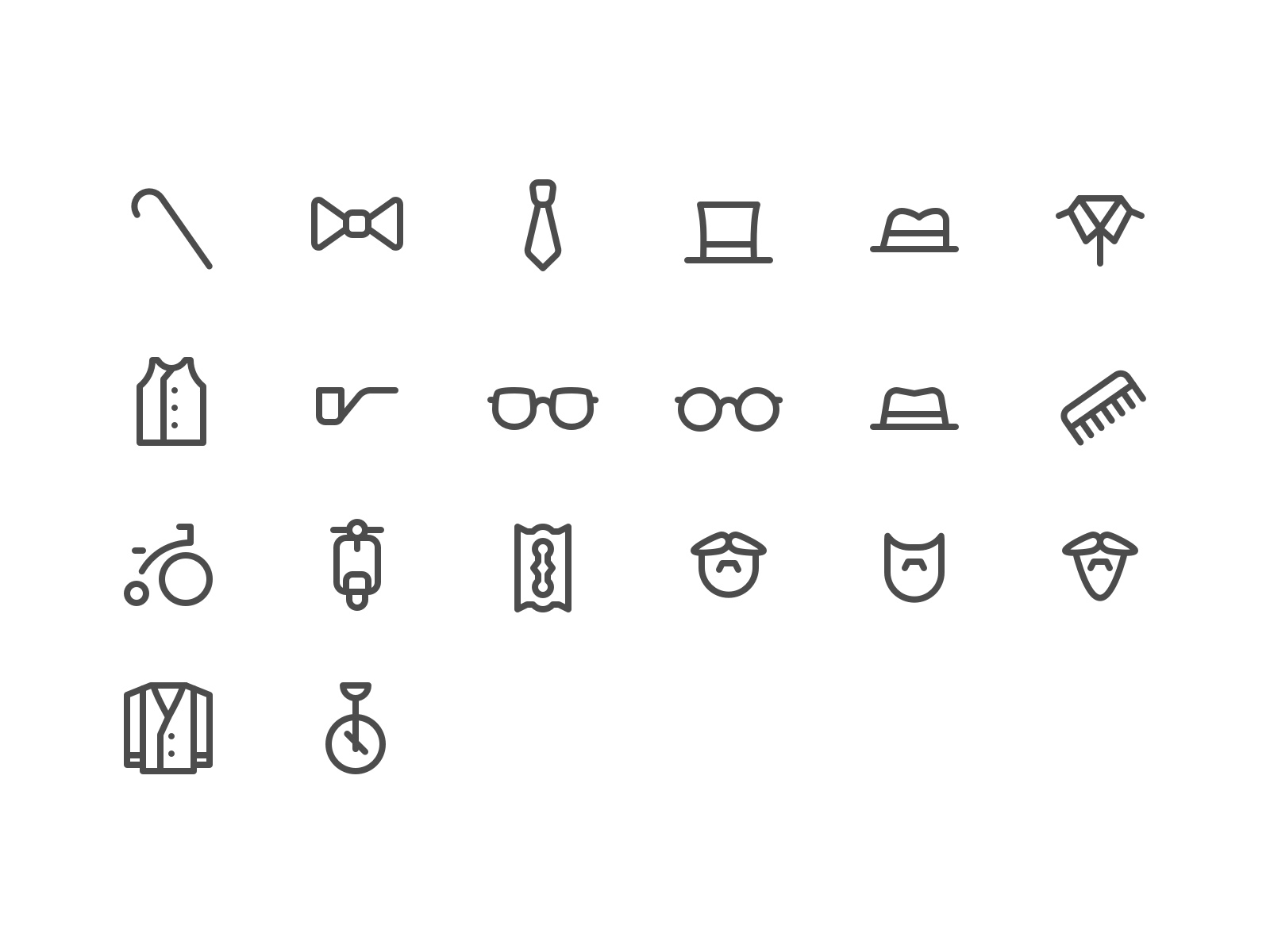 Gentleman Icon Set