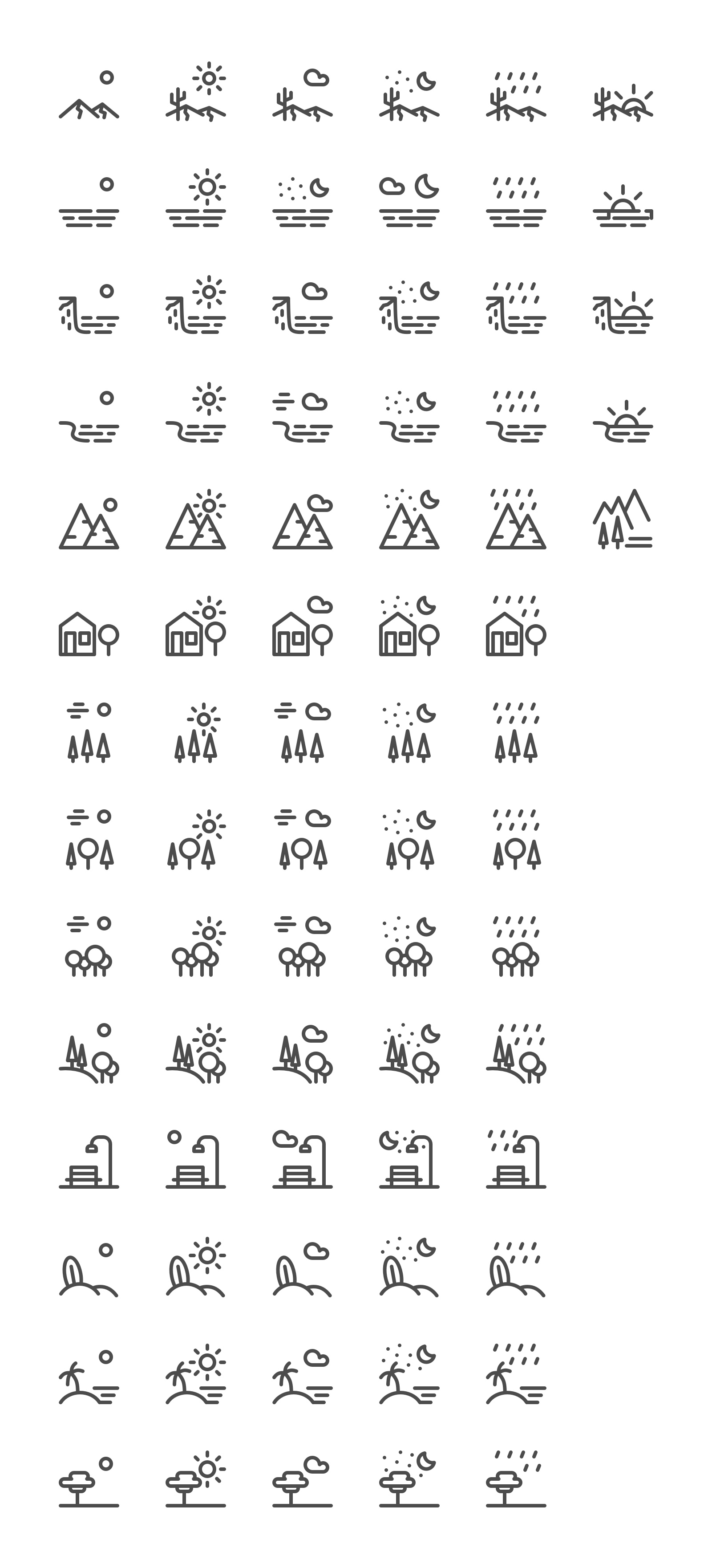 The full Landscapes Icon Set