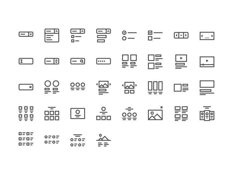 The full User Interface Icon Set